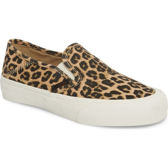 7209931d0c Vans Classic Slip-On Leopard Hemp Sneaker.
